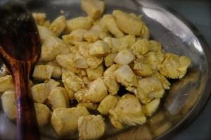 Palak Chicken 9 remove chicken