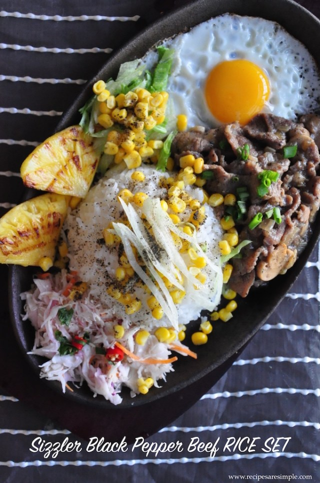 SIZZLING BLACK PEPPER BEEF SIZZLER