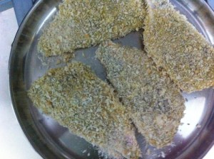 crumbed fish and chips recipe - crumbed fish fillets for frying