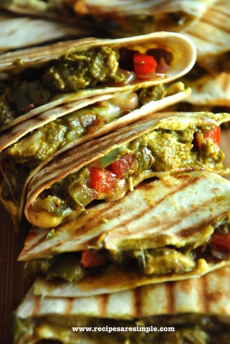 palak chicken quesadilla recipe