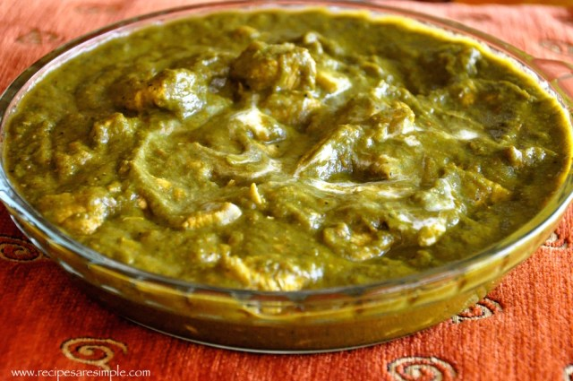 palak chicken step by step recipe