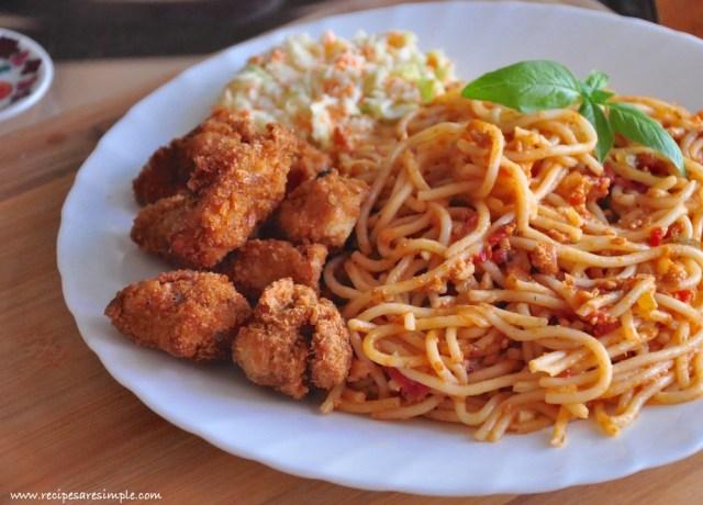 chicken cutlet spaghetti recipe