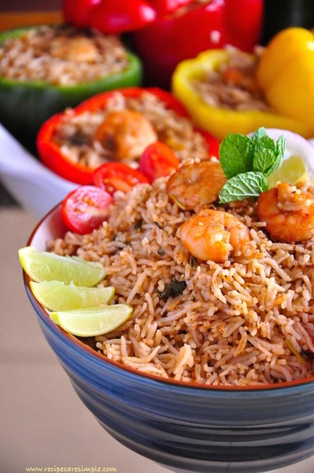 delicious shrimp kabsa : kabsah
