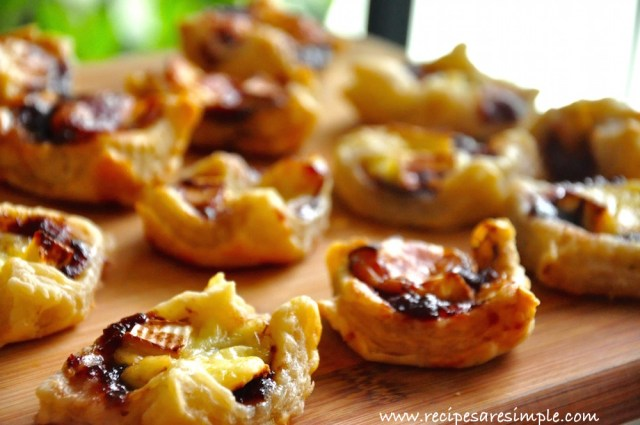 brie and jam puff pastry appetizer recipe