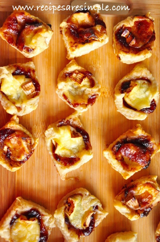 brie and jam puff pastry appetizer video recipe