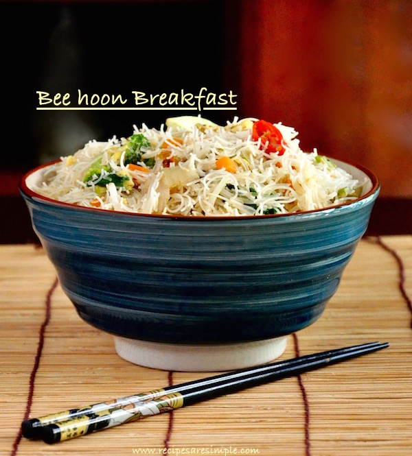 bee hoon breakfast
