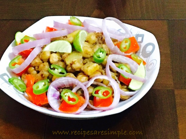 Kadai Masala Chana recipe