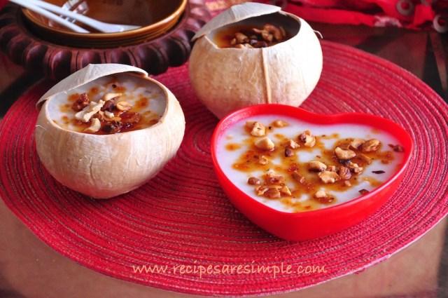 Karikku Pudding - how to make coconut pudding