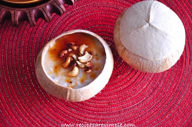 Karikku Pudding - tender coconut pudding
