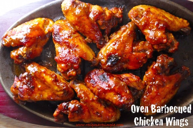 oven barbecued chicken wings
