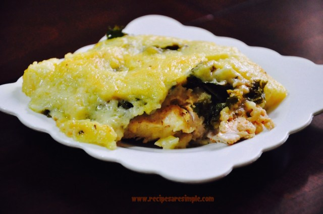 Baked Chicken with Kale and Béchamel Sauce