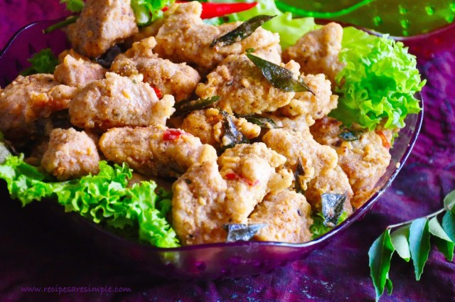 salted egg yolk chicken-recipe