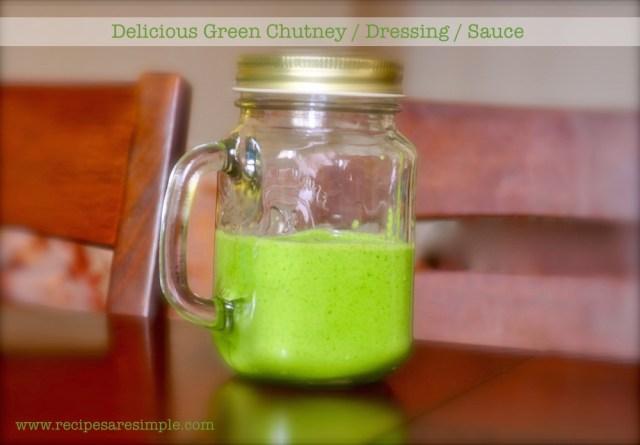 delicious green chutney