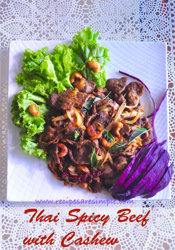 thai spicy beef with cashew nuts
