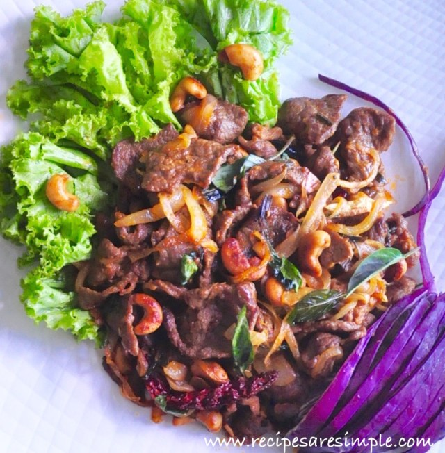 thai spicy beef with cashew nuts recipe