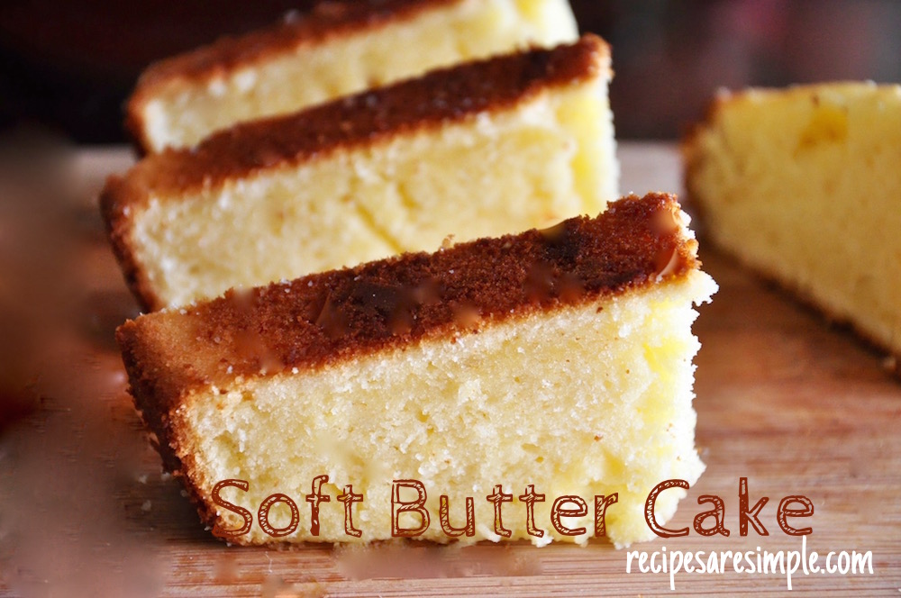 Simple Butter Cake Recipe Grams