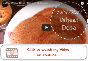instant wheat dosa youtube video copy