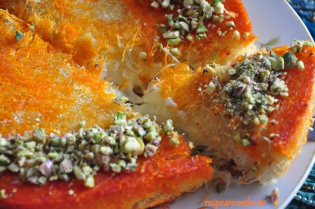 Kunafa | Middle Eastern Cheese filled Dessert Pastry recipe