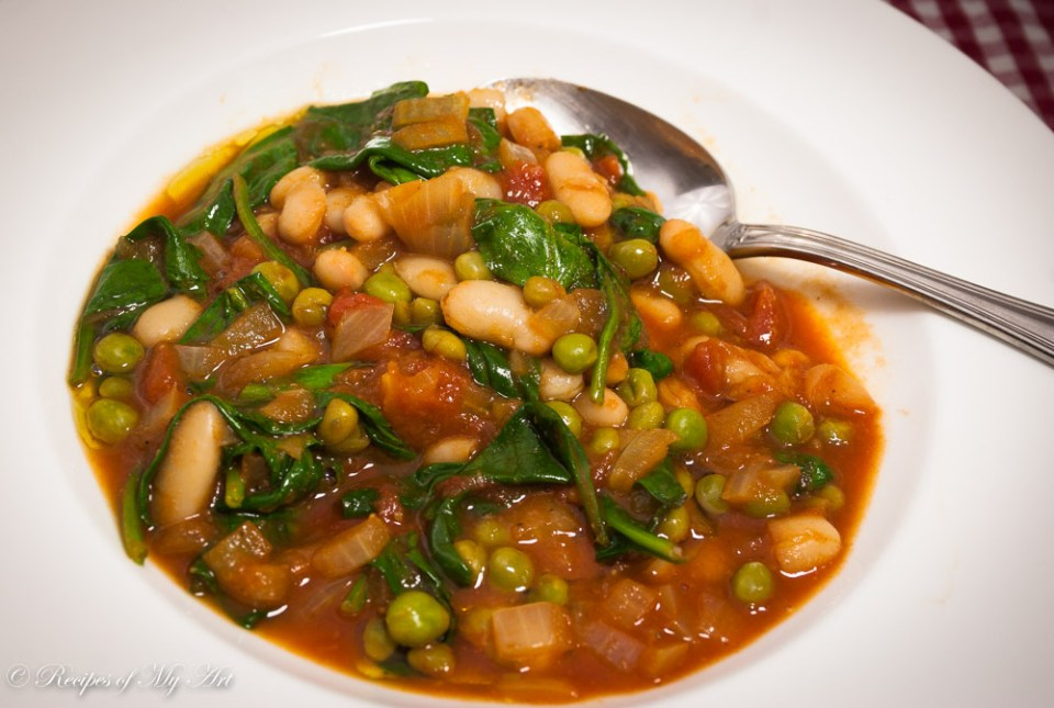 Spicy Spinach and Cannellini Bean Stew-3