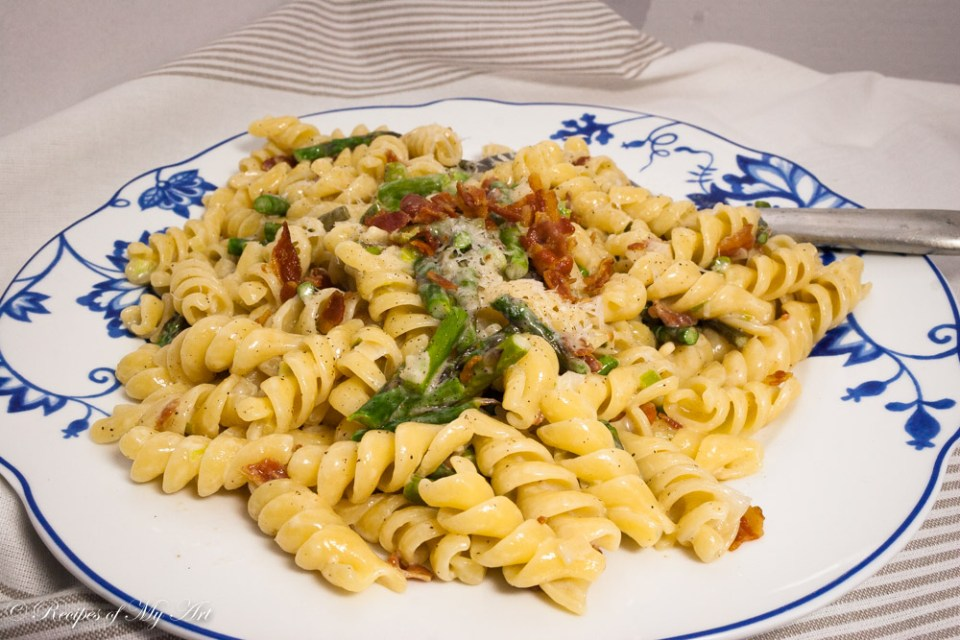 Asparagus and Bacon Pasta