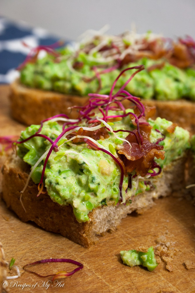 Bruschetta with Pea Spread-11