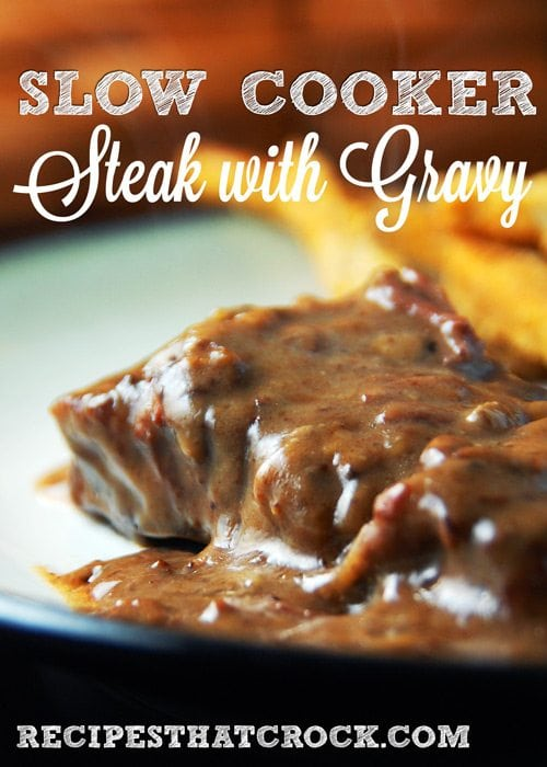 Slow Cooker Steak with Gravy