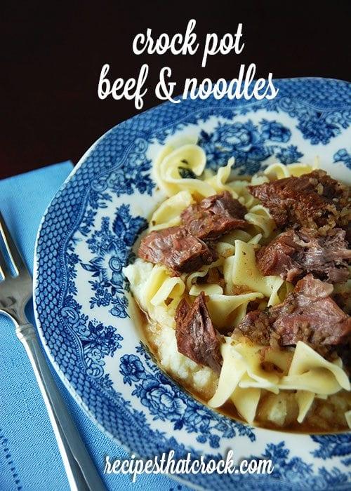 Crock Pot Beef and Noodles