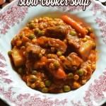 Easy Veggie Beef Slow Cooker Soup