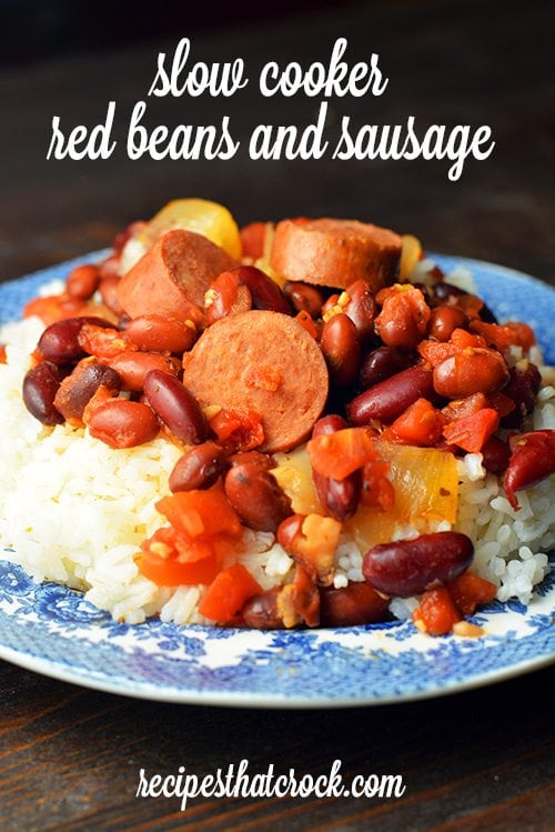 Slow Cooker Red Beans and Sausage