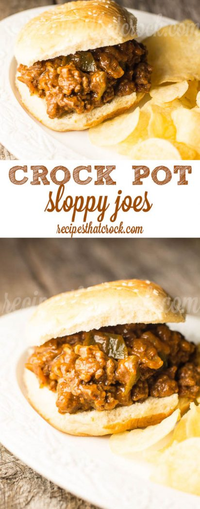Crock Pot Sloppy Joes: Perfect recipe for a crowd. This is our go to foolproof crock pot recipe for sloppy joes. Perfect homemade sloppy joe sandwiches every time.
