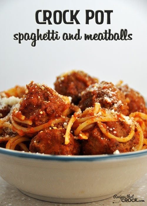 This Crock Pot Spaghetti and Meatballs is the best we have ever had!