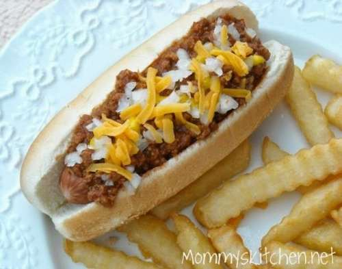 White Bean Hot Dog Chili