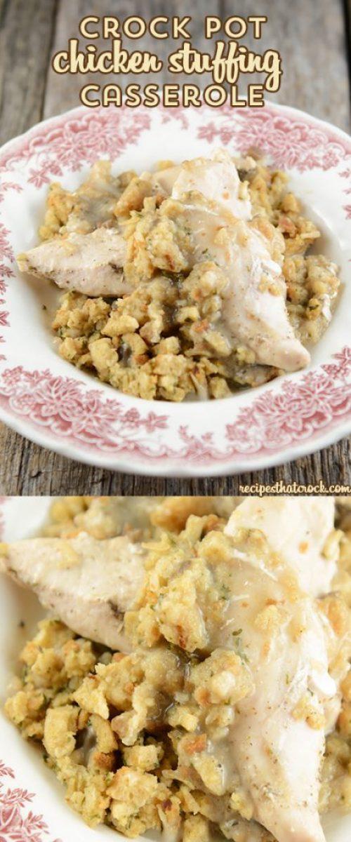 Crock Pot Chicken Stuffing Casserole Recipes That Crock