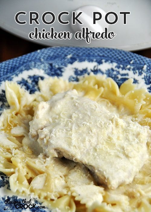 You'd never believe the homemade sauce in this Crock Pot Chicken Alfredo was so easy to make!