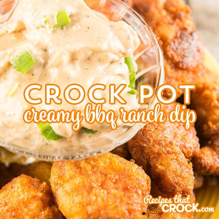 Crock Pot Creamy BBQ Ranch Dip is the perfect game day or party snack! #ad @TysonFoods