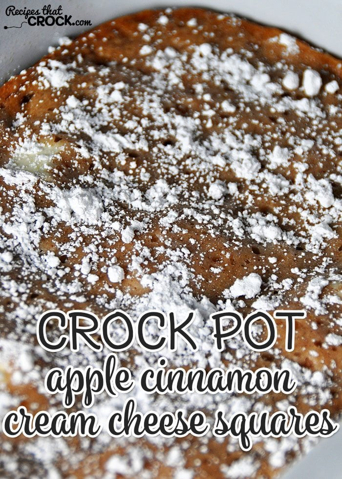 These Crock Pot Apple Cinnamon Cream Cheese Squares are super easy and deeelicious!