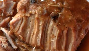 easy crock pot pork loin with gravy