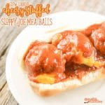 This Cheesy Stuffed Sloppy Joe Meatballs Recipe is one of my daughter's favorite recipes of all time. They are a delicious take on sloppy joes that kids of all ages love!