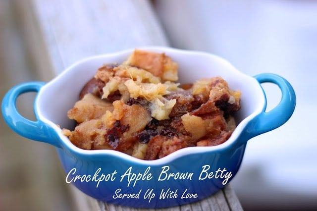 Crock Pot Apple Brown Betty