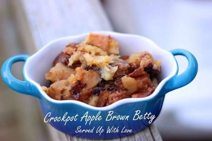 Crock Pot Apple Brown Betty