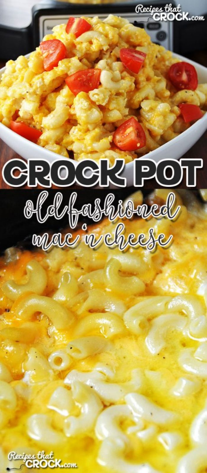 This Old Fashioned Crock Pot Mac 'n Cheese is incredibly easy to make and will have you reminiscing about the yummy mac 'n cheese your grandma used to make.