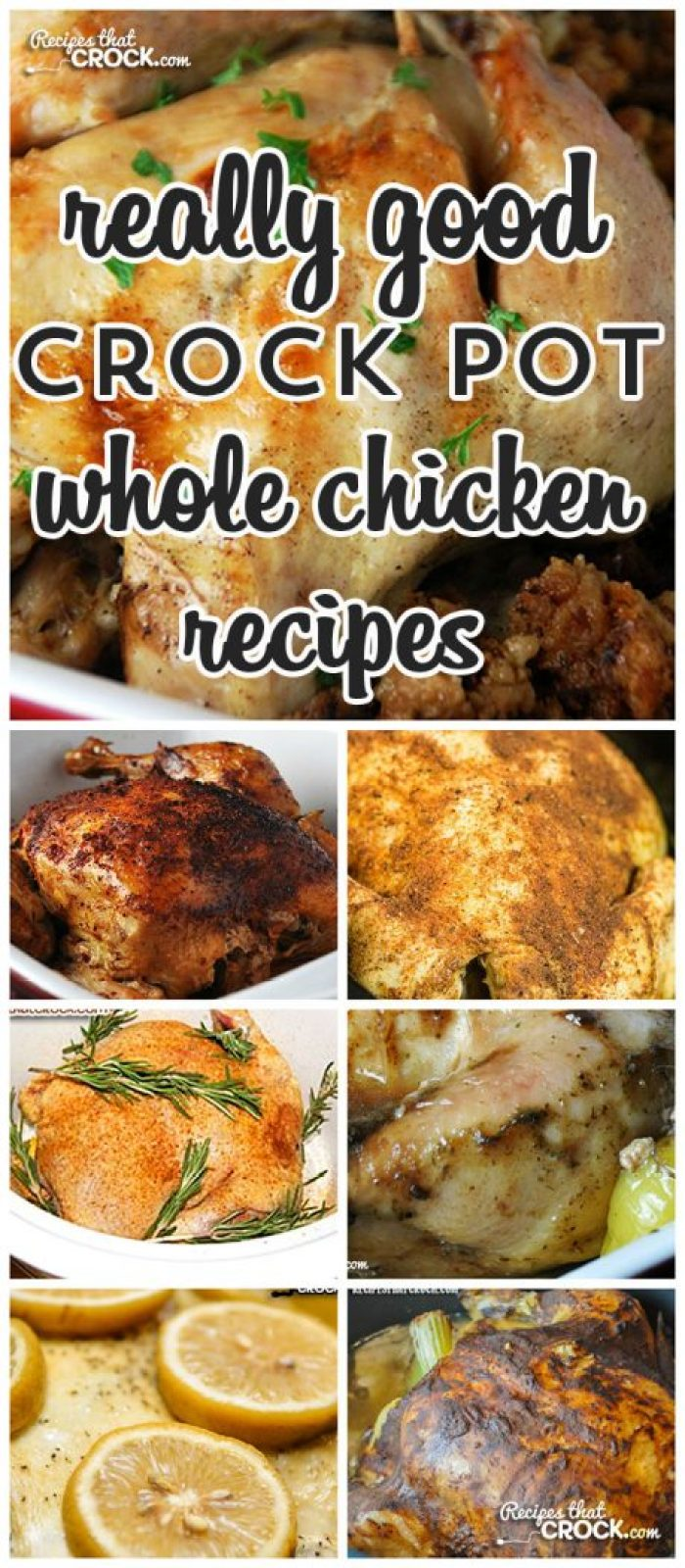 Have you ever cooked a whole chicken in your crock pot? Cris and I love it! So we thought we would put together a list of some Really Good Whole Chicken Recipes just for you!