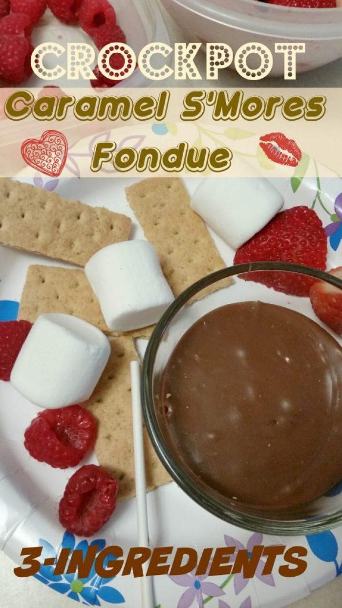 Crock Pot Caramel S'Mores Fondue