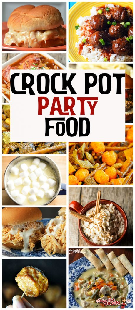 We like to party! No matter the time of year, it seems people like to get together and have a party! Part of the fun of a party is the yummy food! So check out these great Crock Pot Party Food!