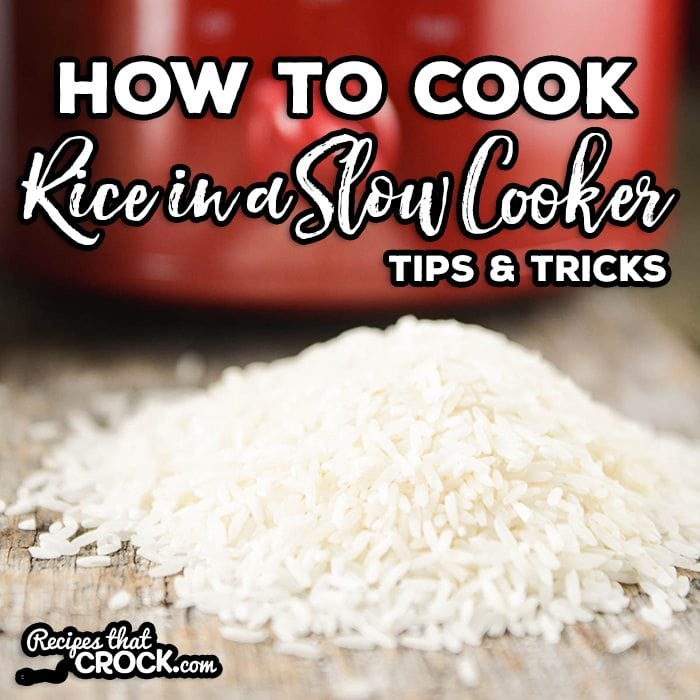 Have you ever tried cooking rice in your slow cooker? Have you maybe had  some
