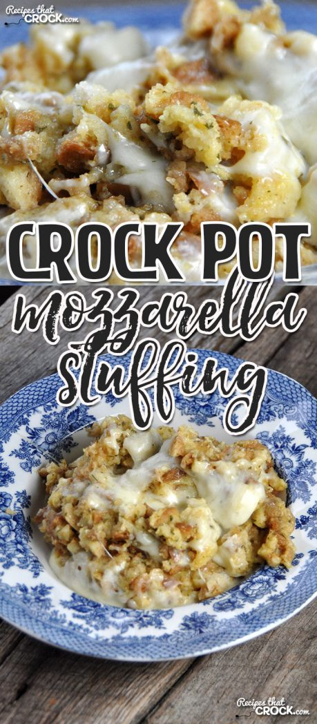 Do you love cheese? Do you love stuffing? Every try them together? I love how well their flavors melded in this yummy Crock Pot Mozzarella Stuffing!