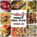 Meal Planning: Weekly Crock Pot Menu 20 (plus Weekly Chat)