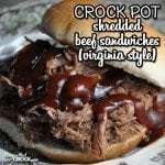 In the mood for a deeelicious sandwich that is a snap to make? Check out these Crock Pot Shredded Beef Sandwiches (Virginia Style)! Oh. My. Yum.