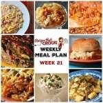 Meal Planning: Weekly Crock Pot Menu 21 (plus Weekly Chat)