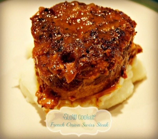 Slow Cooker French Onion Swiss Steak
